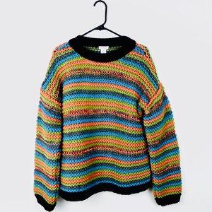 Sundance Thick Knit Striped Sweater B26